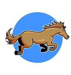 Jump horse vector