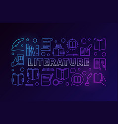 Literature colorful banner vector