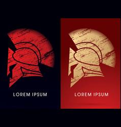 luxury roman or greek helmet vector image