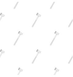 Medical hammer pattern flat vector