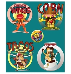 Mexican food background with traditional spicy vector image