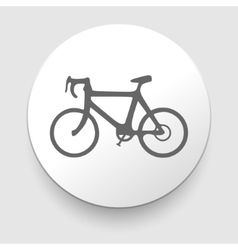 Minimalistic bicycle icon eps10 vector