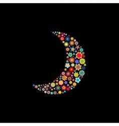 moon shape vector image vector image