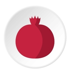 Pomegranate icon flat style vector