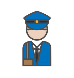 postman avatar icon on white backgroundai vector image