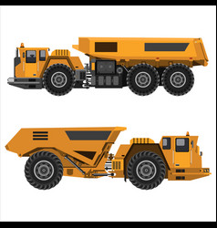 powerful articulated dump truck vector image vector image