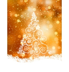 Shinny christmas tree eps 8 vector