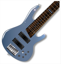 six string bass vector image vector image