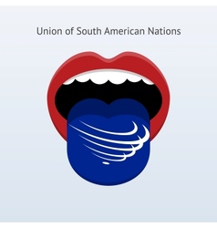 Union of south american nations language abstract vector
