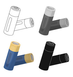 used batteries icon in cartoon style isolated on vector image