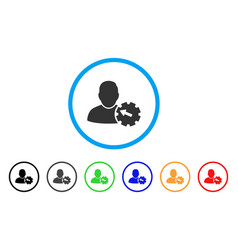 user integration gear rounded icon vector image vector image