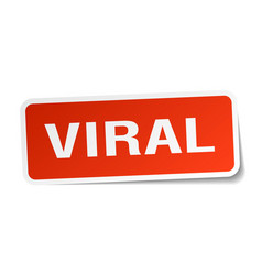 Viral square sticker on white vector
