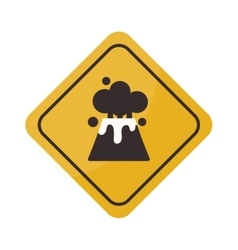 Volcano warning sign vector