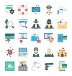Crime and security icons 1 vector