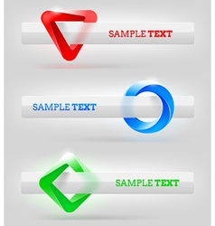 Abstract shapes and banners for message or text vector