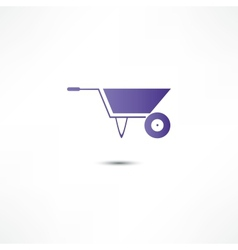 Wheelbarrow icon vector