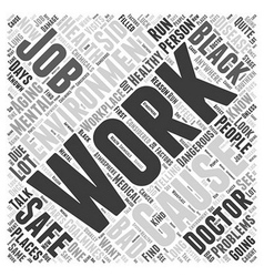 Healthy aging and your workplace word cloud vector