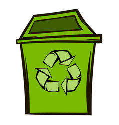 Trash can recycling eco symbol vector