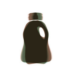 Plastic bottle for cleaning  colorful icon vector