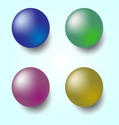 Colorful 3D sphere isolated on white background vector image