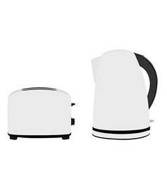 Kettle and toaster vector