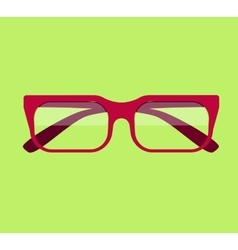 Classic glasses icon vector