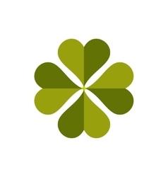 Four-leaf clover flat icon vector