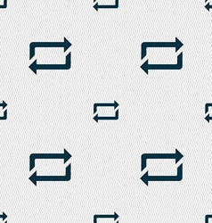 Repeat icon sign seamless pattern with geometric vector