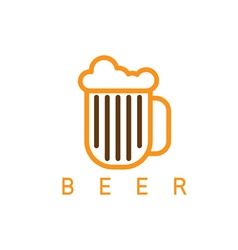 Abstract icon design template of beer vector