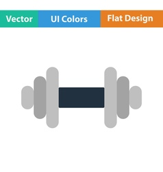 Flat design icon of dumbbell vector