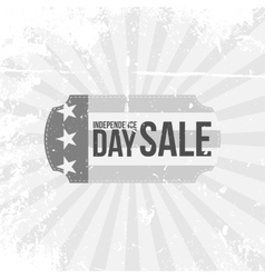 Independence day 4th of july sale flat label vector