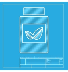 Supplements container sign white section of icon vector