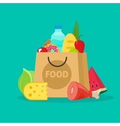 Grocery bag isolated paper vector