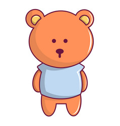 bear toy icon cartoon style vector image