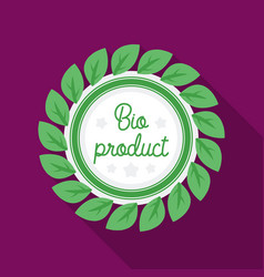 bio-product icon in flat style isolated on white vector image