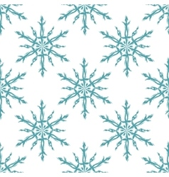 Blue and white snowflakes geometric christmas vector