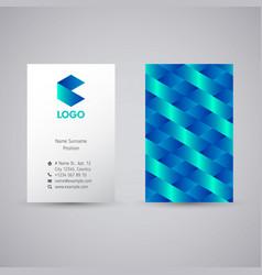 blue ribbon origami logo vector image