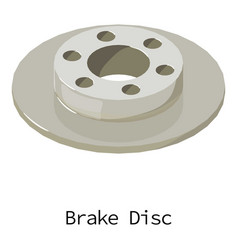 Brake disc icon isometric 3d style vector
