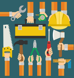 builders modern flat background vector image