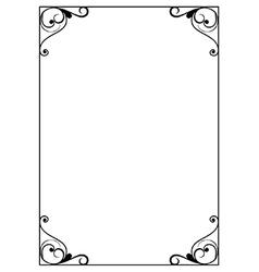 Decorative page border vector image