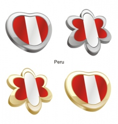 flag of Peru vector image vector image