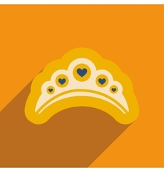 Flat web icon with long shadow diadem vector