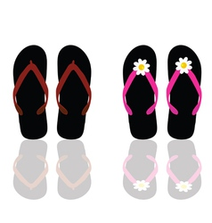 Flip flop for beach for man and woman vector