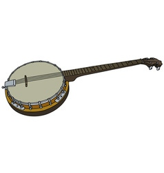 Four string banjo vector