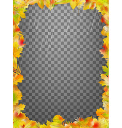 Frame with colorful autumn leaves eps 10 vector