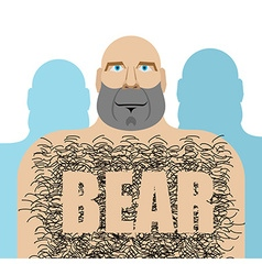 Gay bear big hairy man lgbt community vector