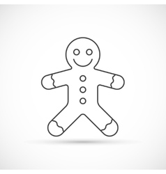 Gingerbread thin line icon vector