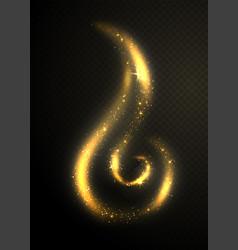 golden glittering circle drop shape design element vector image vector image