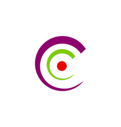 letter c abstract circle logo vector image
