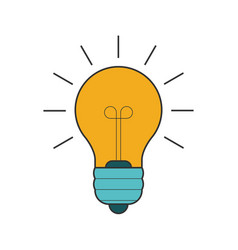 Lightbulb flat line icon vector